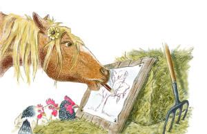 5-Conny Pony zeichnet den Karottenbaum