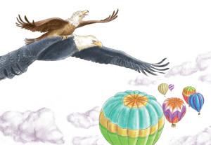 9-Magnus-zeigt-Aaron-das-Fliegen © Marcelo T. Lavallén - honorarfrei - adleraaron.com
